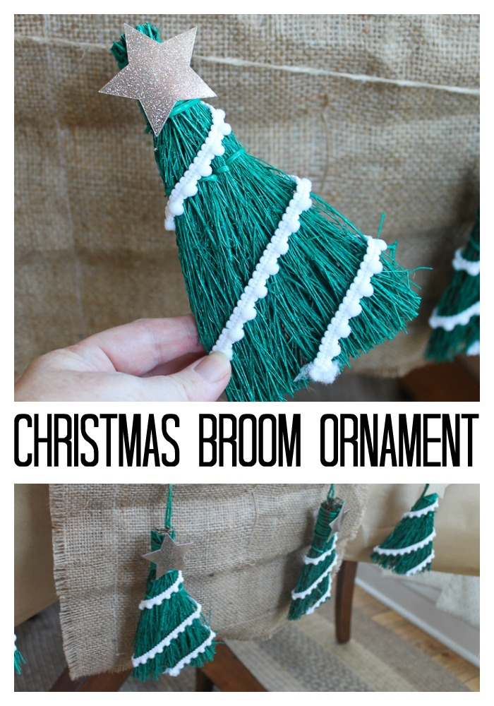 Make a Christmas tree ornament from a mini broom! A quick and easy craft project! #christmas #christmastreeMake a Christmas tree ornament from a mini broom! A quick and easy craft project! #christmas #christmastree