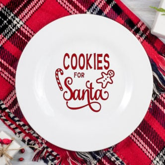 Cookies for Santa Plate:  Made with Your Cricut
