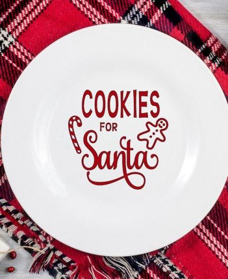 cricut santa plate