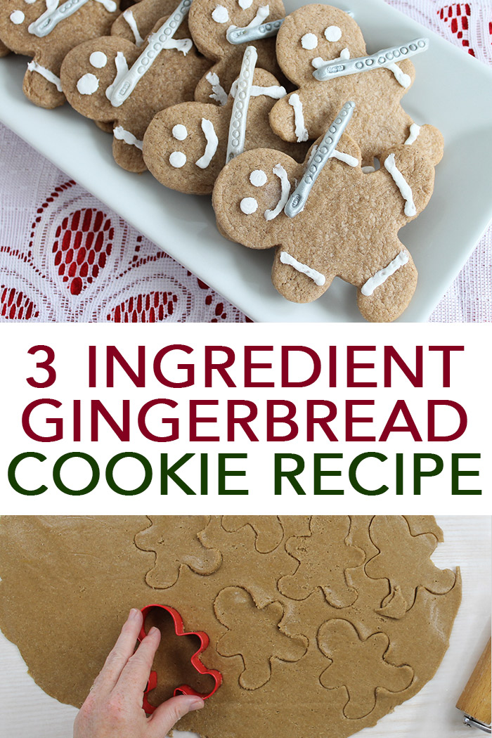 Make this easy gingerbread recipe with just three ingredients! Then add on cute decoration to make them look like 11 pipers piping! #gingerbread #recipe
