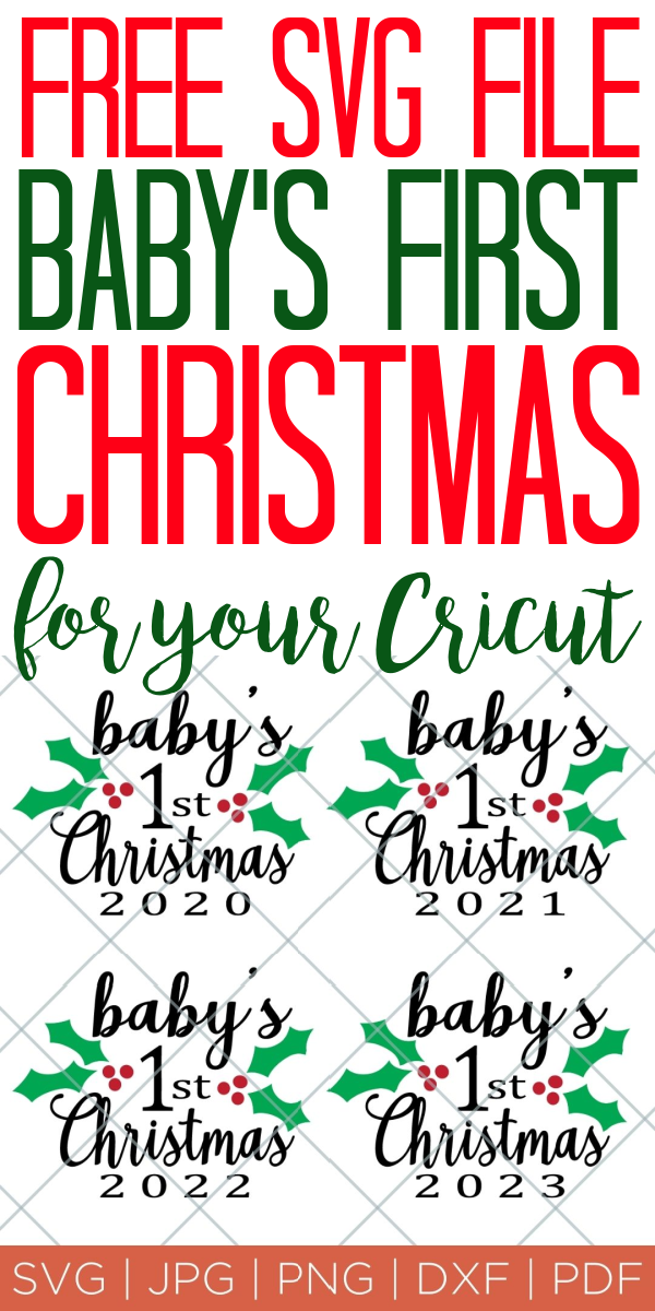 Baby S First Christmas Ornament Free Svg File The Country Chic Cottage