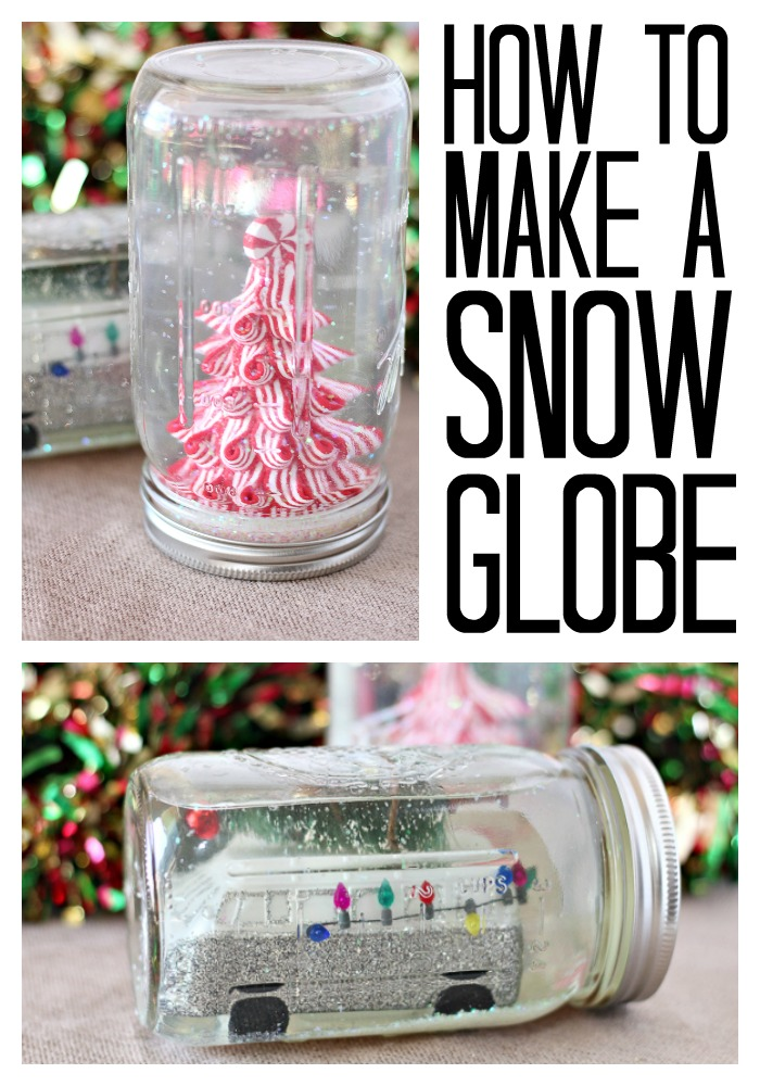 how to make a snow globe from a mason jar