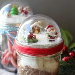 Mason Jar Christmas Craft Snow Globe Toppers