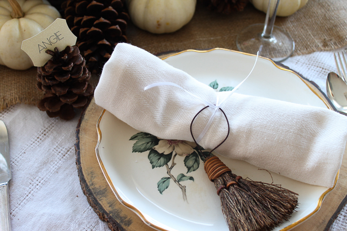 broom napkin rings