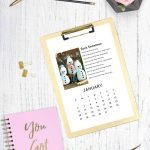Craft of the Month Calendar Free Download