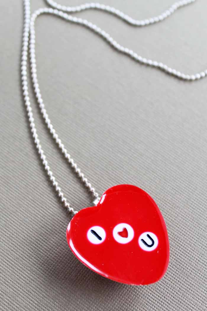 necklace in the shape of a heart