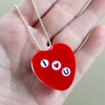 Heart Necklace to Make for Valentine's Day