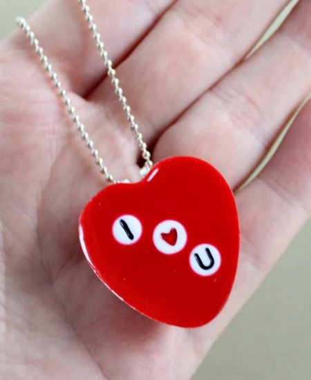 A necklace for valentine's day
