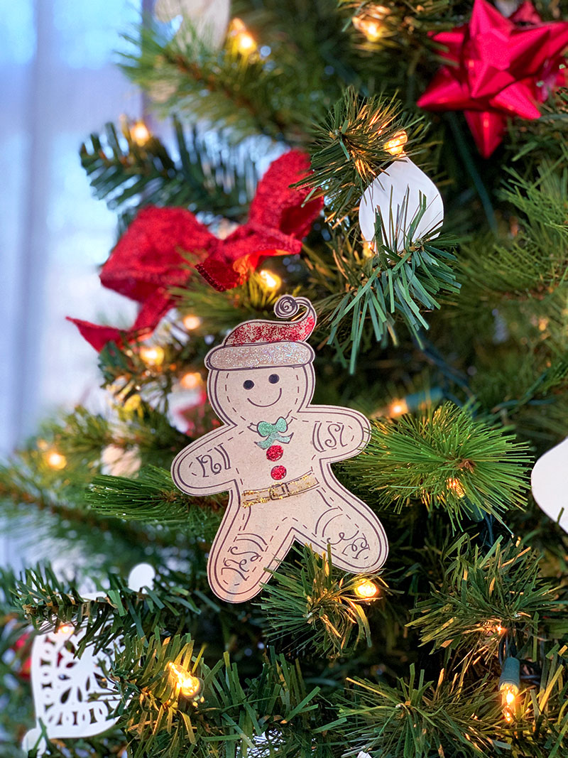 gingerbread man on a christmas tree