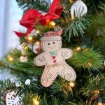 Gingerbread Man Paper Christmas Decor