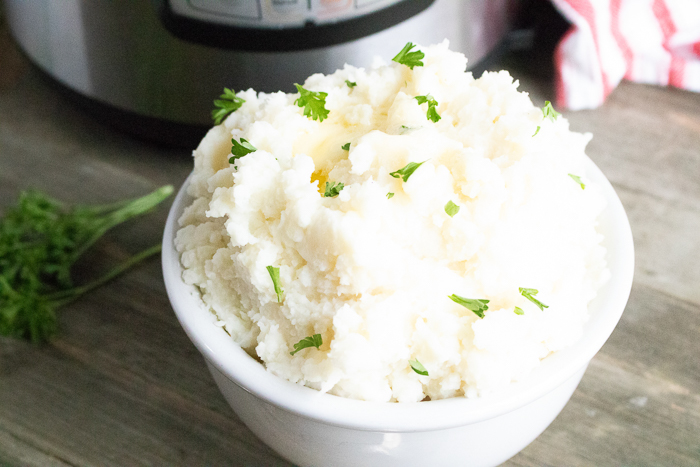 mashed potatoes made in an instant pot