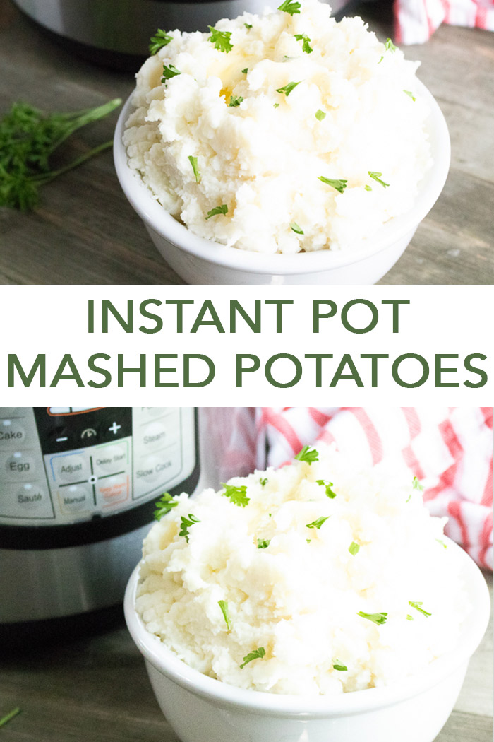 The perfect instant pot mashed potatoes recipe for any night of the week! #instantpot #potatoes #recipe