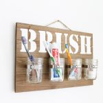 Mason Jar Wall Decor:  Bathroom Organizer