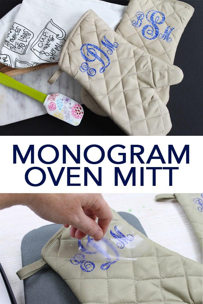 monogram ideas oven mitt