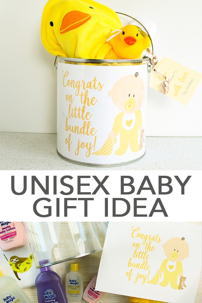 gender neutral baby gift idea pin image