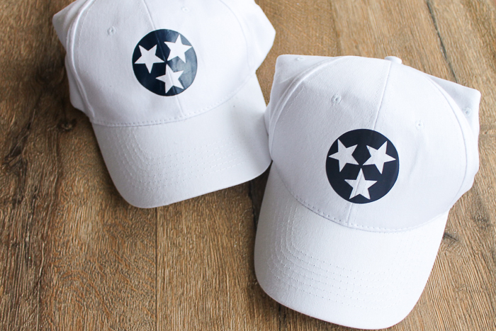 Use these methods to find the best way to transfer heat treat vinyl on hats!