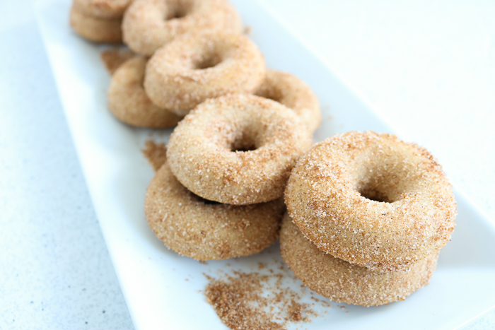 doughnuts with cinnamon and sugar