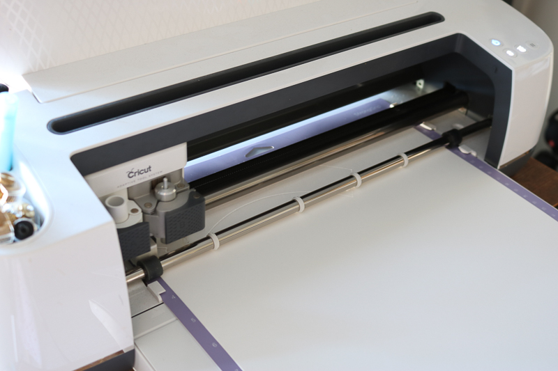 Cutting kraft board on the Cricut Maker.