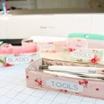 Fabric Storage Bins for Your Cricut Tools