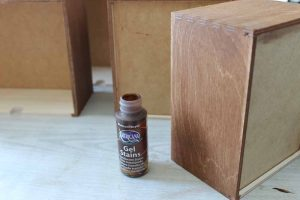 stain for ikea moppe hack