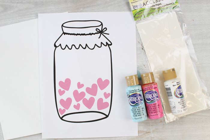 mason jar art template