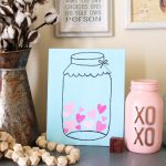 Mason Jar Picture on Canvas for Valentine's Day