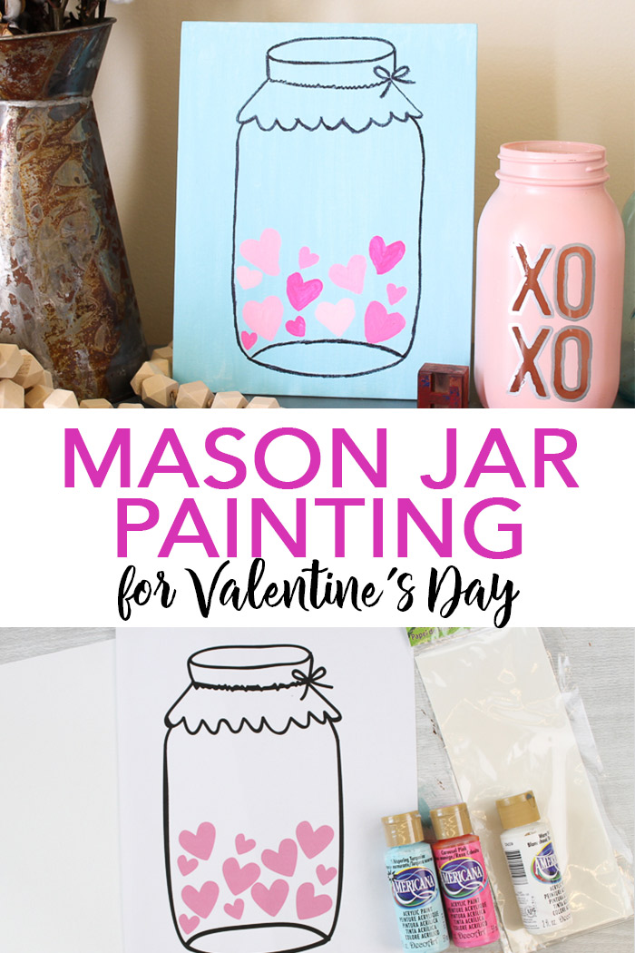 mason jar picture on canvas