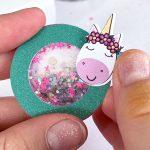 DIY Mini Glitter Shaker Pins