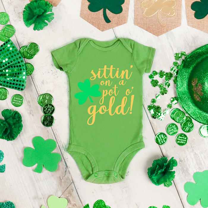St Patricks Day Baby Outfit Free Svg File The Country Chic Cottage