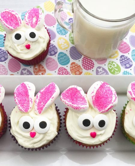 Make these bunny cupcakes for Easter!