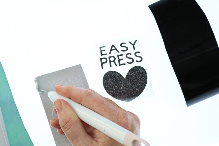 Tips and tricks for weeding vinyl including using the Cricut BrightPad.