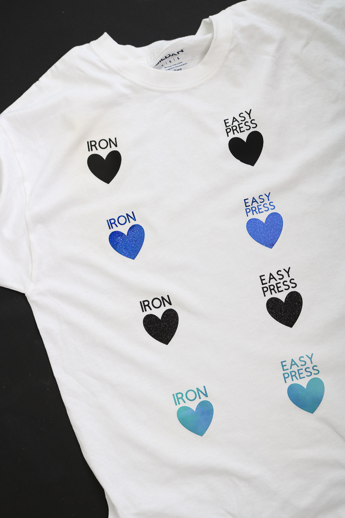 Shirt made to compare the Cricut EasyPress to the iron. Which one is better?