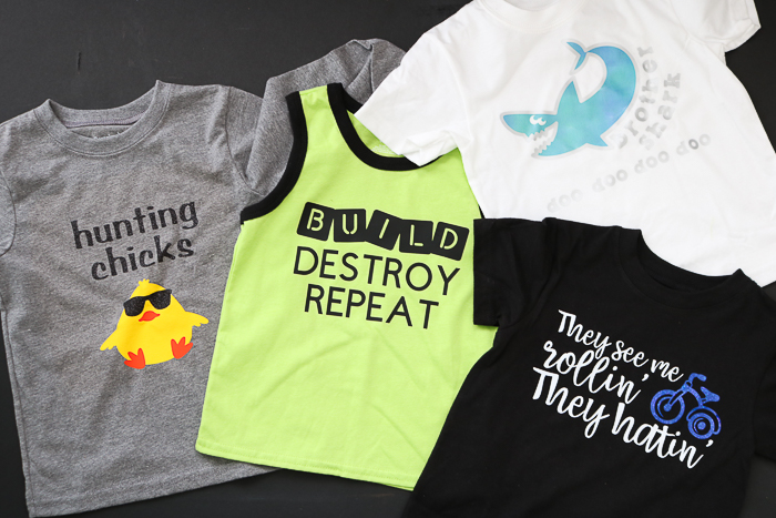 Cricut iron on glitter vinyl and so much more! Get instructions for making shirts with your Cricut machine.