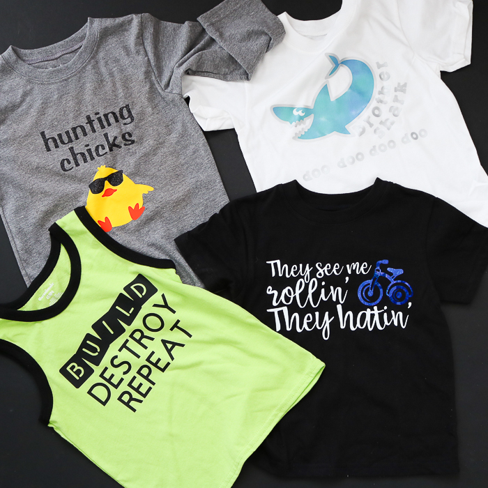 Instructions for using iron on t shirt vinyl for Cricut including pressing with a Cricut EasyPress.