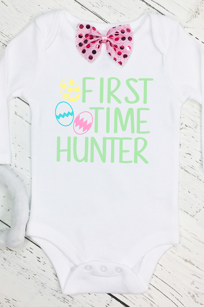 "adorable ""first time hunter"" onesie"
