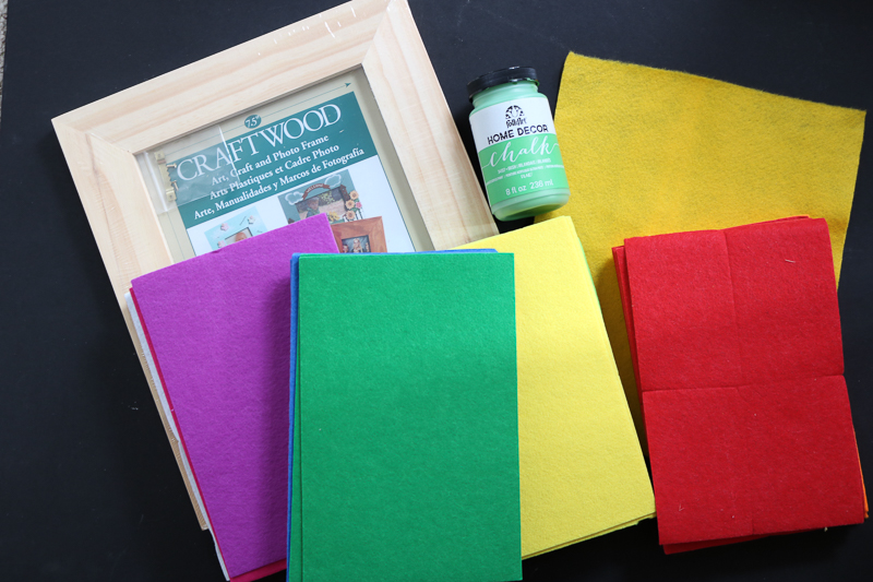 Supplies to make a DIY felt board for stories! Includes monster SVG file to cut with your Cricut or Silhouette from felt!