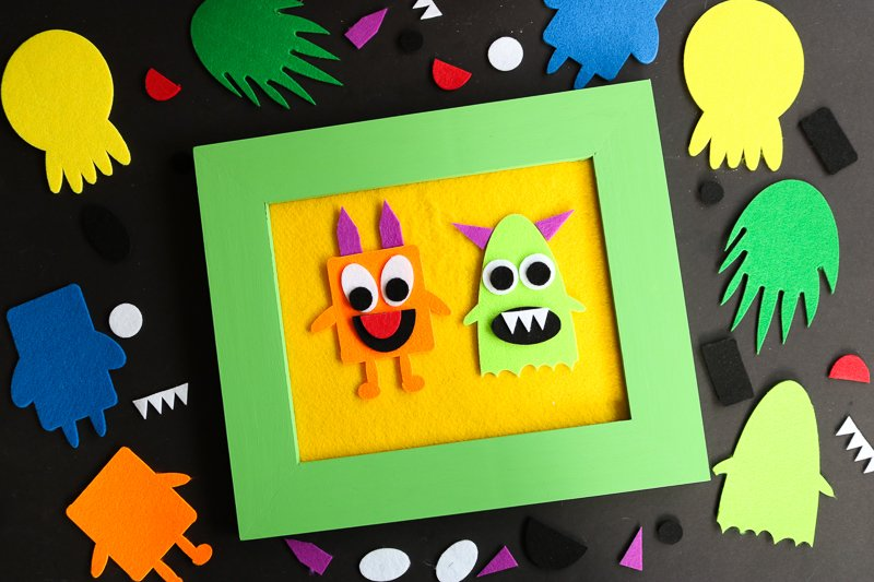 How to make a felt story board with your Cricut or Silhouette! Includes a free monster SVG file to cut from the felt with your machine!