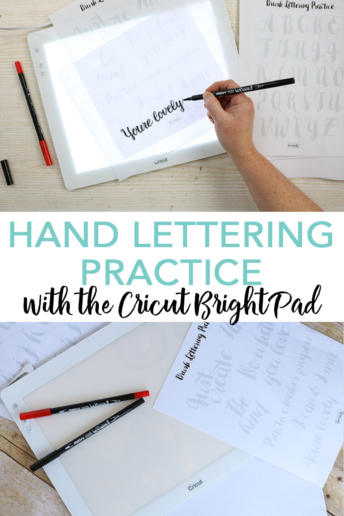 Hand lettering practice has never been easier! Use the Cricut BrightPad to practice your lettering and create gorgeous brush lettering projects! #cricut #cricutmade #handlettering #brushlettering