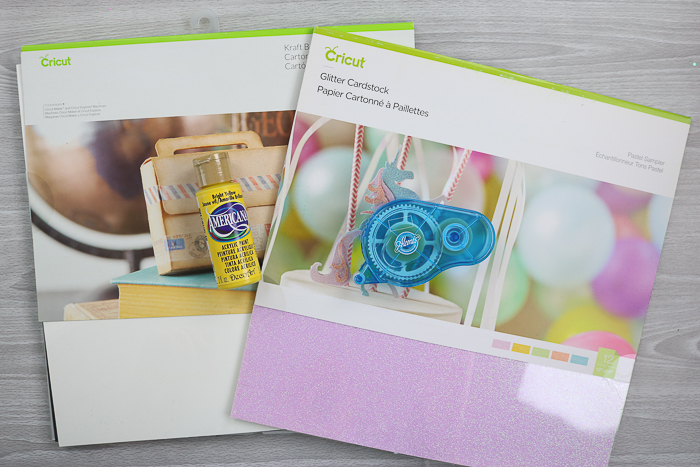 Cricut supplies used for Mother's Day card ideas for kids to make