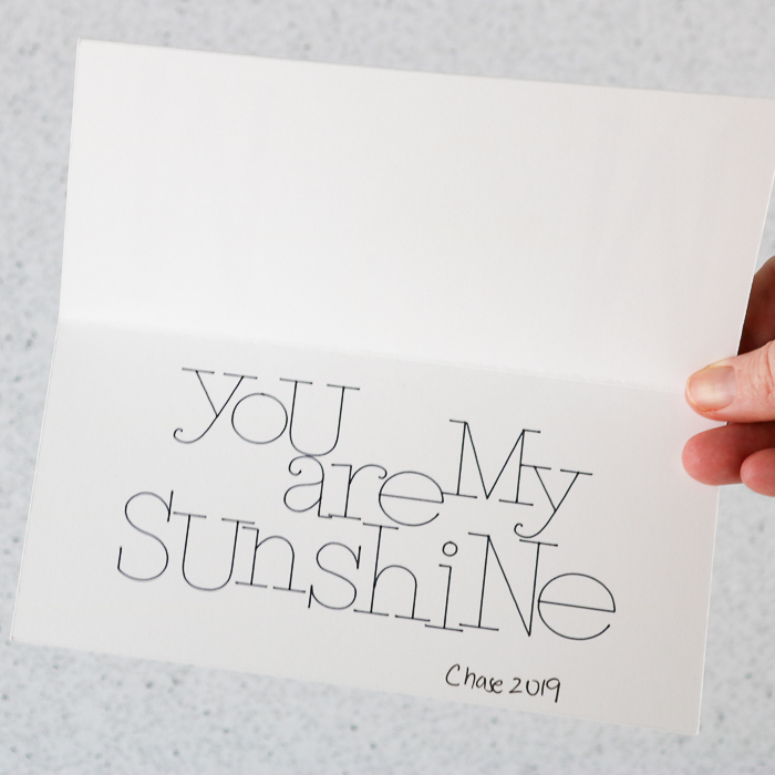 A cute you are my sunshine card for Mother's Day.