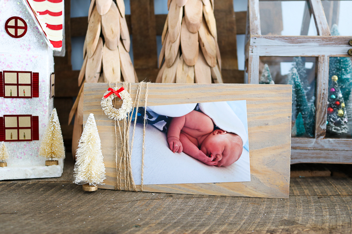 Learn how to make a picture frame from scrap wood including this cute Christmas version!