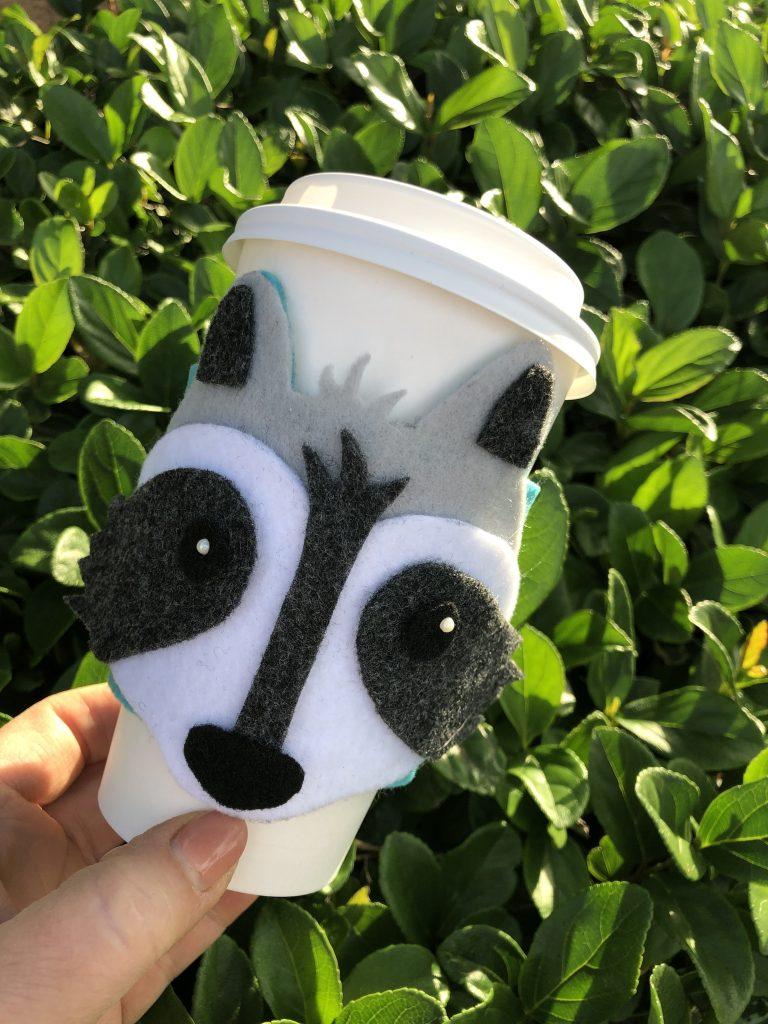 raccoon drink wrap