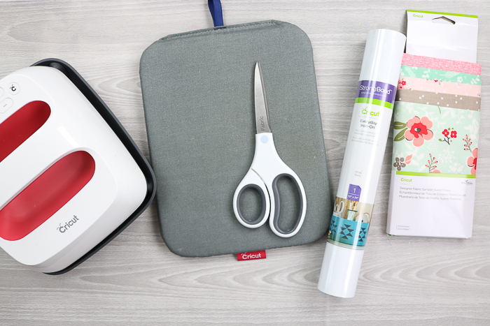 Supplies needed to make a zipper pouch with your Cricut Maker.