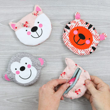 A zipper pouch tutorial with your Cricut Maker! Make cute animal zipper pouches that everyone will love! #cricut #cricutmade #cricutmaker