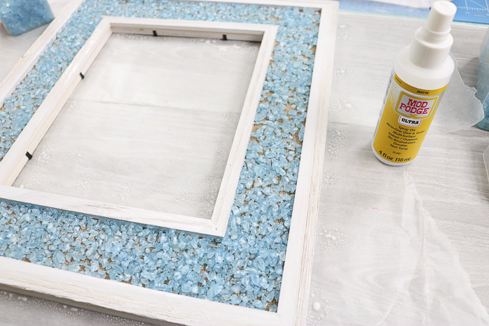 How to make mosaic art with broken glass and Mod Podge Ultra