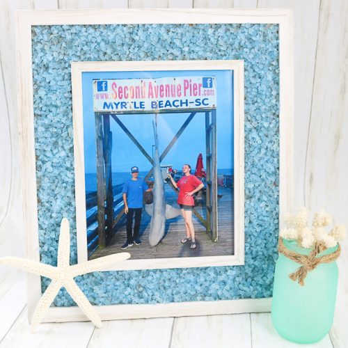 Broken glass mosaic frame with Mod Podge Ultra