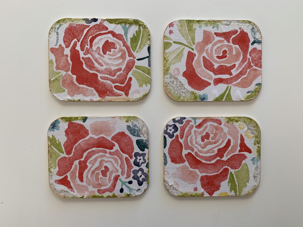 decoupage coasters