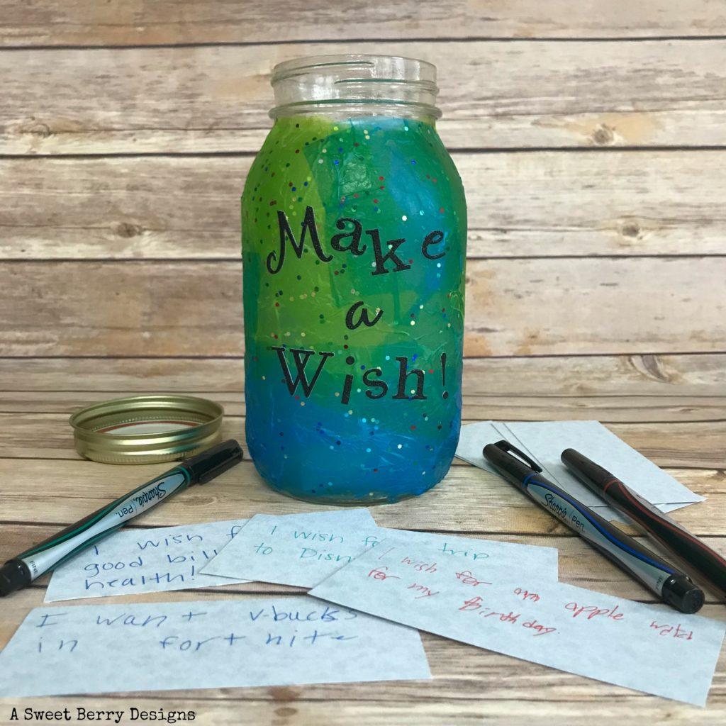 make a wish mason jar