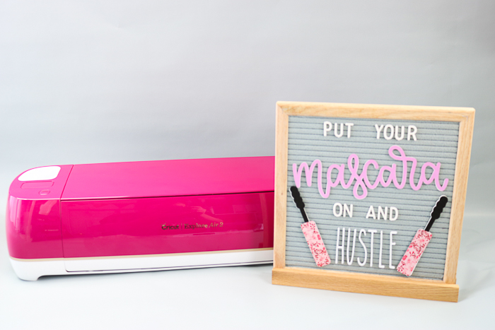 Letter board quote and accessories with the Cricut Explore Air 2