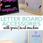 Learn how to make letter board accessories with your Cricut machine and a few supplies! Make your letter board quotes really stand out with DIY felt letter board letters! #cricut #cricutmade #letterboard #quote #crafts #diy